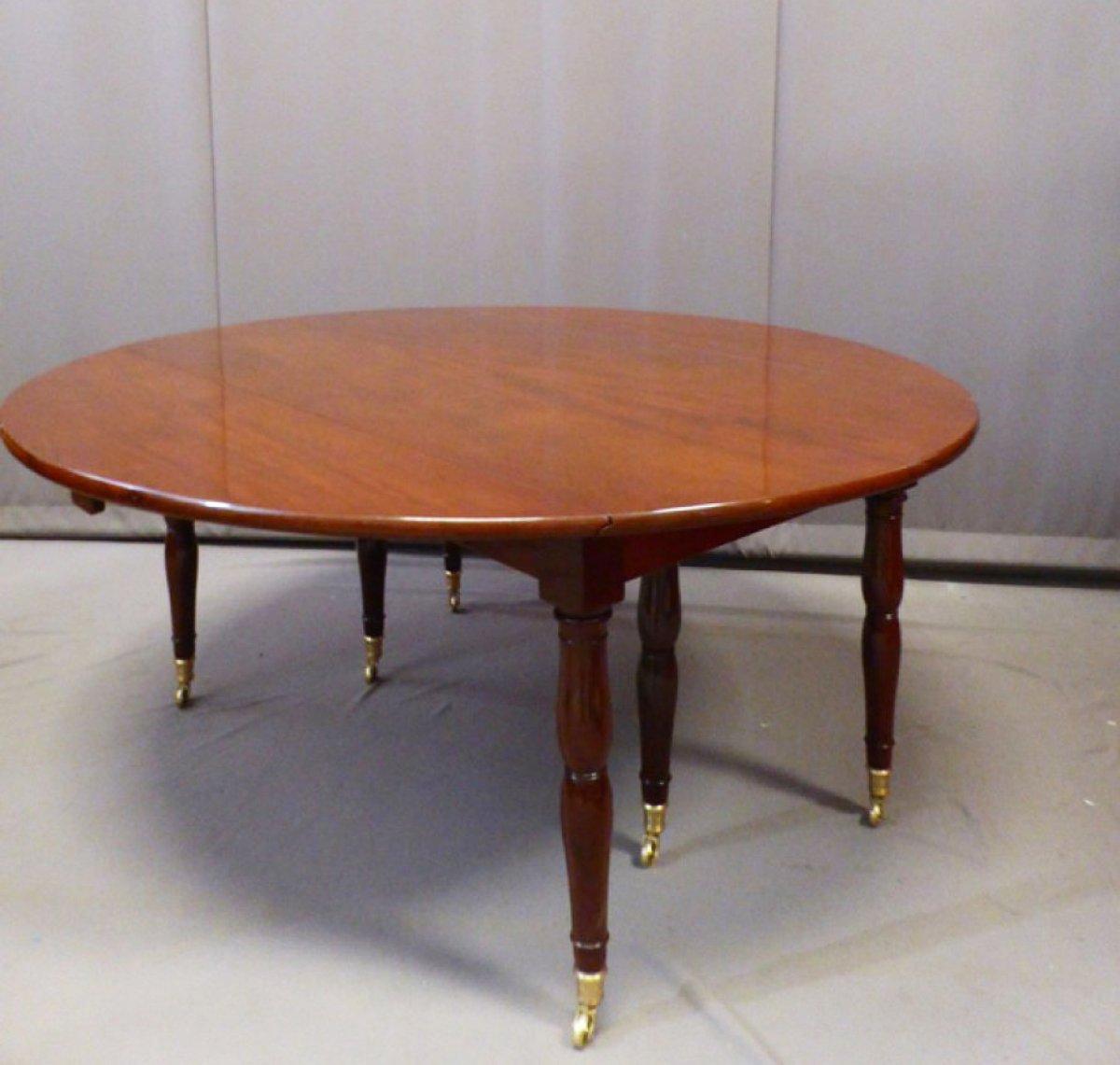 Table de salle manger avec allonges poque 1820 xixe for Salle a manger jacob