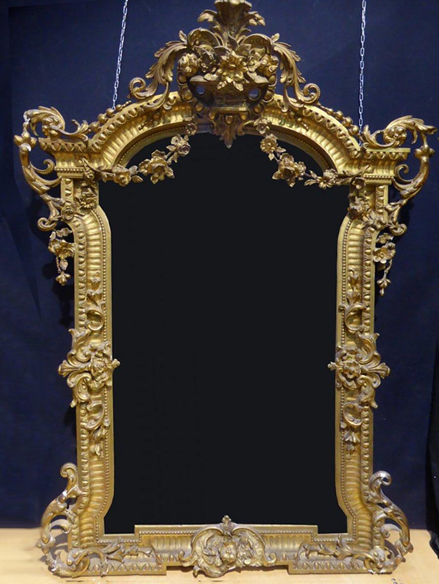 Important miroir de ch teau du xixe si cle for Miroir xix siecle