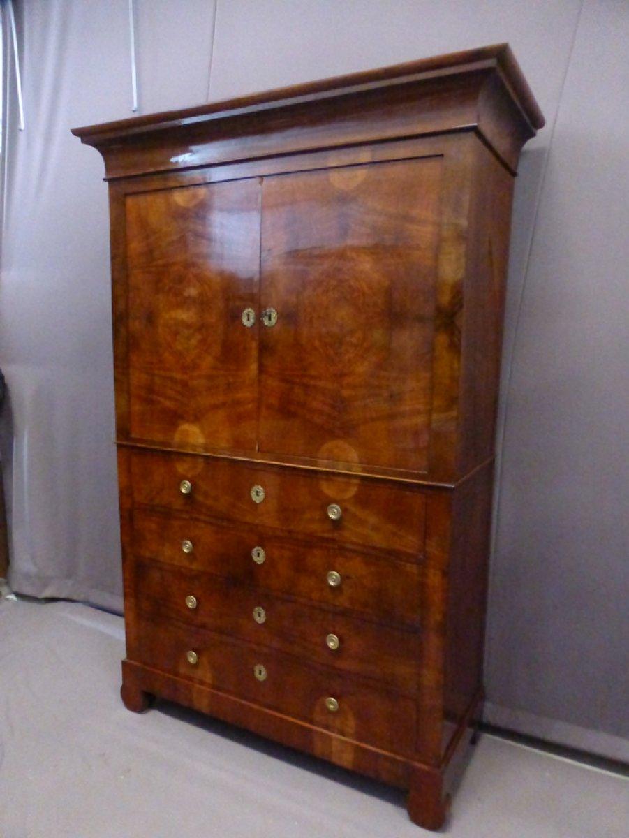 armoire d 39 poque louis philippe xixe si cle. Black Bedroom Furniture Sets. Home Design Ideas