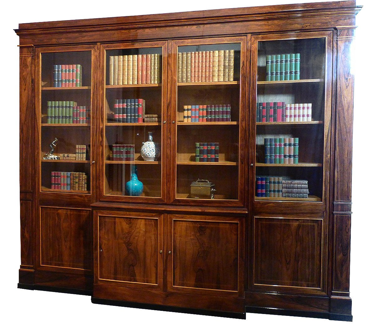 grande biblioth que poque xixe. Black Bedroom Furniture Sets. Home Design Ideas