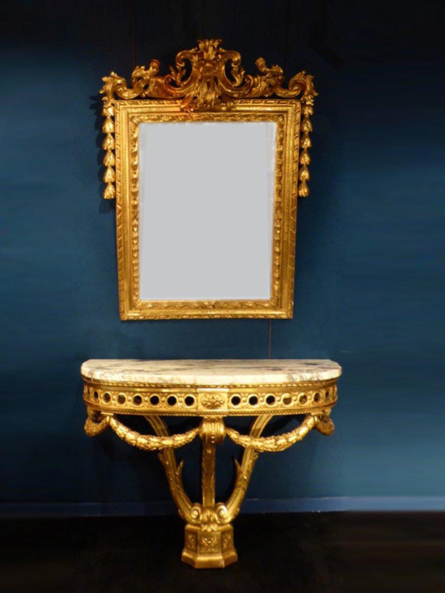 Ensemble miroir et console napol on iii xixe si cle n for Miroir napoleon