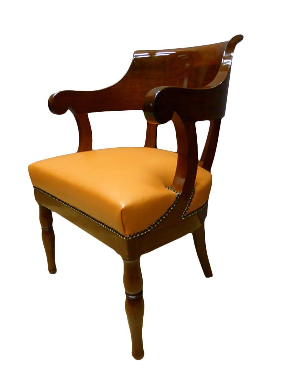 Fauteuil de bureau poque restauration xixe si cle - Cours de restauration de fauteuil ...