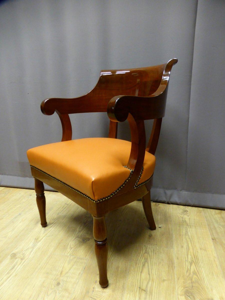 fauteuil de bureau poque restauration xixe si cle. Black Bedroom Furniture Sets. Home Design Ideas