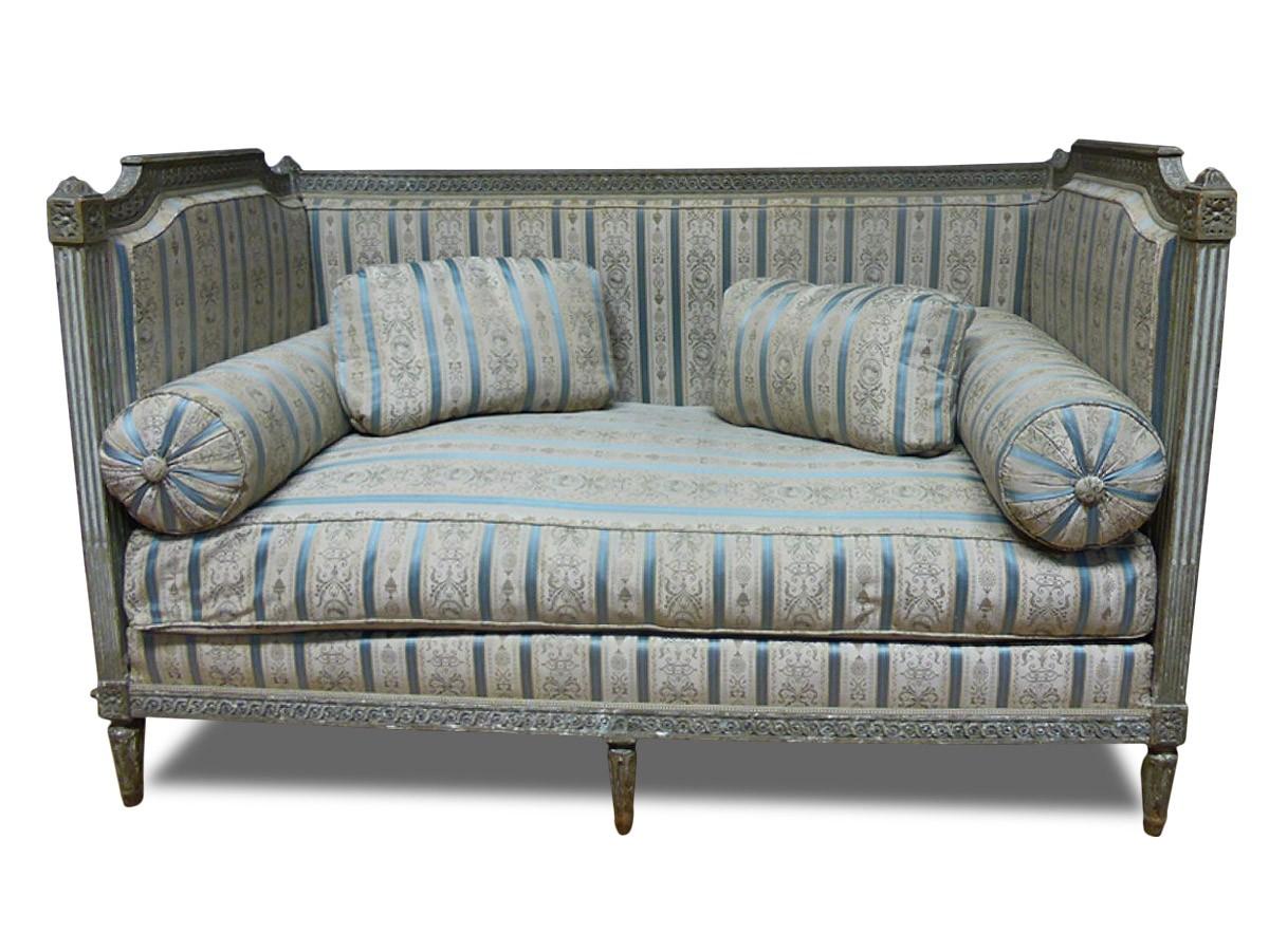 banquette louis xvi estampill e nicolas toussaint porrot. Black Bedroom Furniture Sets. Home Design Ideas