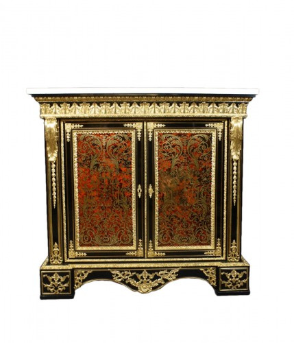 Napoleon III sideboard in Boulle style marquetry