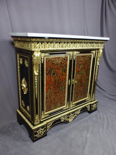 Napoleon III sideboard in Boulle style marquetry  - Furniture Style Napoléon III