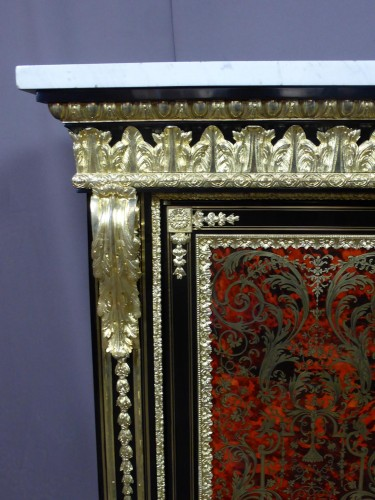 Furniture  - Napoleon III sideboard in Boulle style marquetry