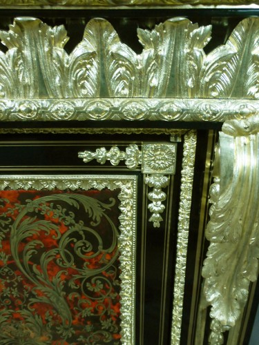19th century - Napoleon III sideboard in Boulle style marquetry