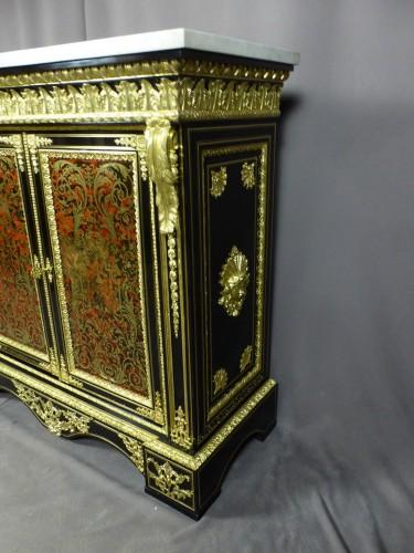 Napoleon III sideboard in Boulle style marquetry  - Napoléon III
