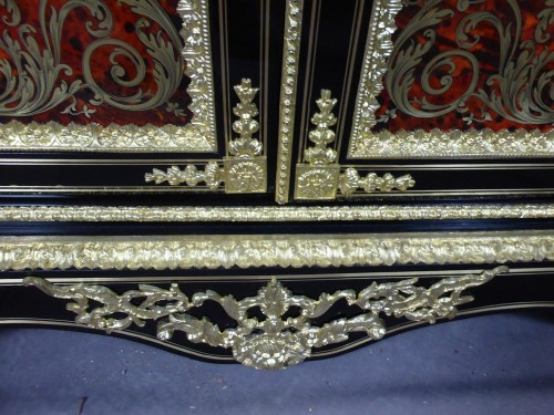 Antiquités - Napoleon III sideboard in Boulle style marquetry