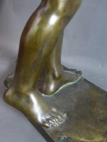 Sculpture  - Francois Louis Virieux - Child with raised arm