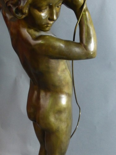 Francois Louis Virieux - Child with raised arm -