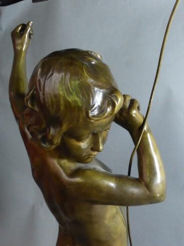19th century - Francois Louis Virieux - Child with raised arm