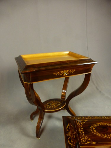 French Charles X chest on its stand - Furniture Style Restauration - Charles X