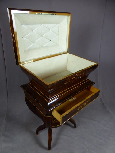 French Charles X chest on its stand -