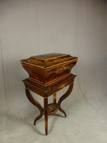 Antiquités - French Charles X chest on its stand
