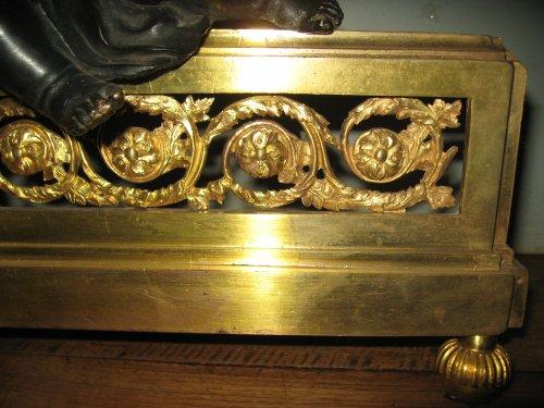 Pair of andirons - Louis XVI period -