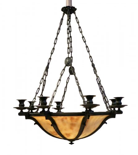 Alabaster chandelier - neo-classique style  beginning 20th century