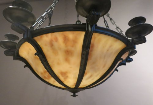 Alabaster chandelier - neo-classique style  beginning 20th century - Lighting Style Art Déco