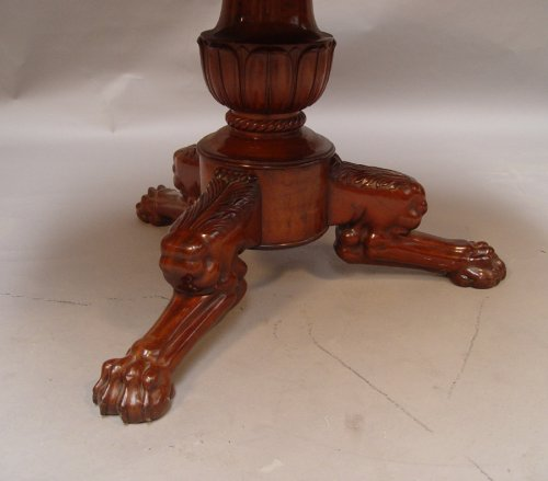 Mahogany gueridon stamped Iacob - Furniture Style Louis-Philippe