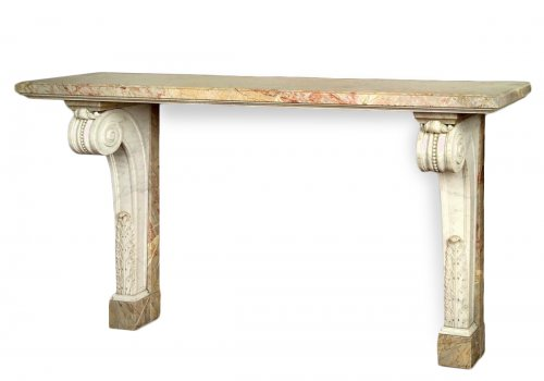 White and sarancolin marble console - early 19th century