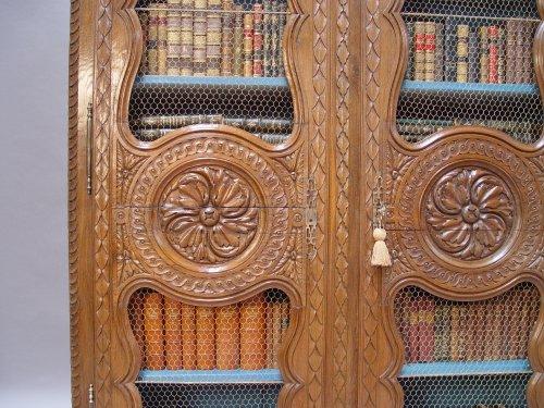 Bibliothèque cabinet - Louis XVI period - Furniture Style Louis XVI
