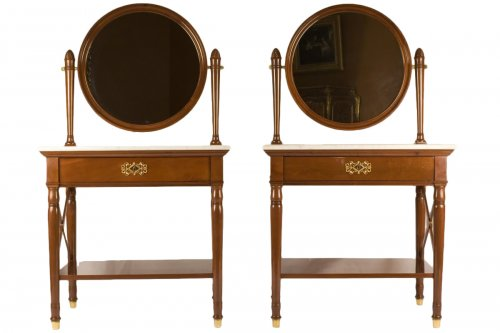 Pair of dressing-tables stamped Jacob Frères Rue Meslée and Jacob D.R.Meslé
