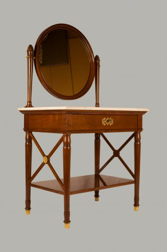 19th century - Pair of dressing-tables stamped Jacob Frères Rue Meslée and Jacob D.R.Meslé