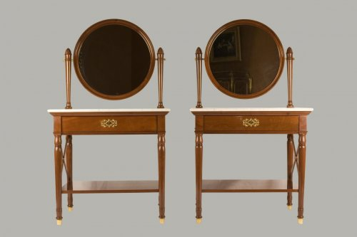 Pair of dressing-tables stamped Jacob Frères Rue Meslée and Jacob D.R.Meslé - Empire