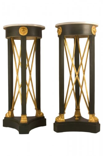 "Pair of tripods in the manner of ""atheniennes"" North Europe, neo-classical"