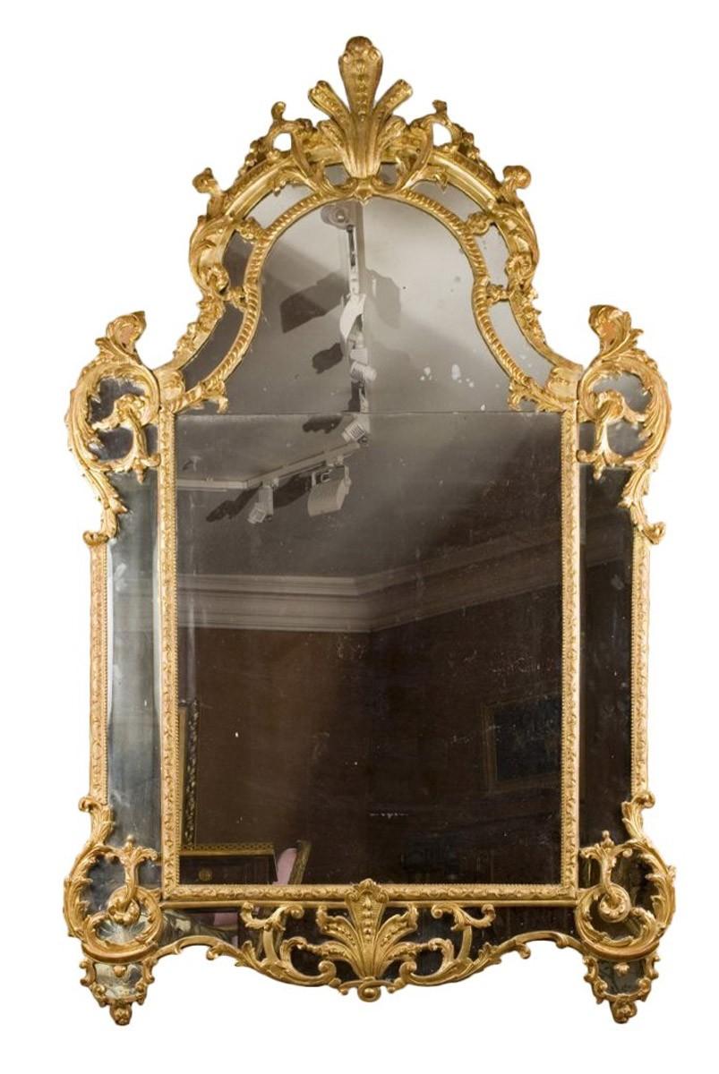Miroir d 39 poque r gence xviiie si cle for Miroir paris 18