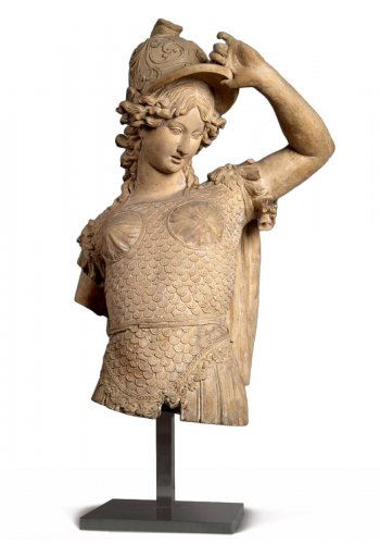 Bust of Minerva in terracotta - Italian school 18th century