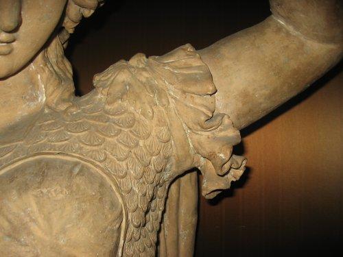 Bust of Minerva in terracotta - Italian school 18th century - Sculpture Style
