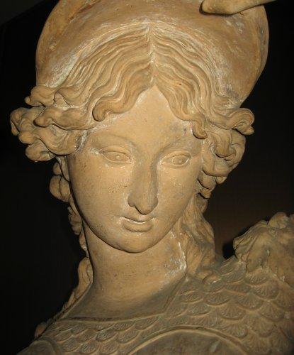 Sculpture  - Bust of Minerva in terracotta - Italian school 18th century