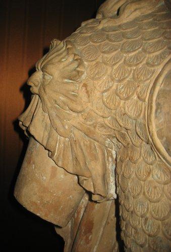 Bust of Minerva in terracotta - Italian school 18th century -