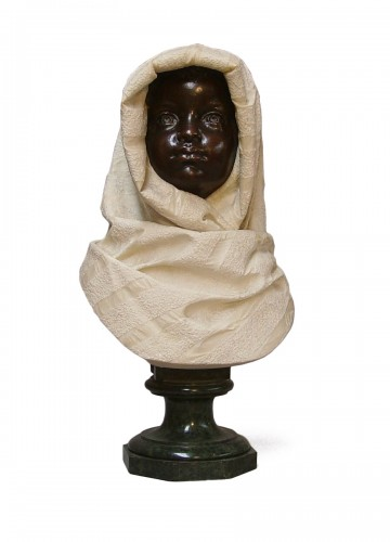 Young nubian signed R.Pereda c. 1880