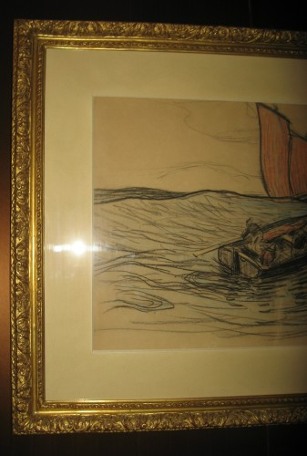 Fishermen maneuvering in the swell by H. Moret - Paintings & Drawings Style