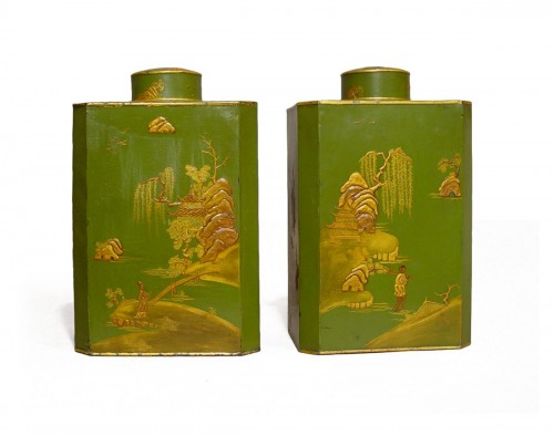 Pair of tea-caddies end of 18th - beginning of 19th century
