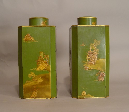 Pair of tea-caddies end of 18th - beginning of 19th century - Decorative Objects Style