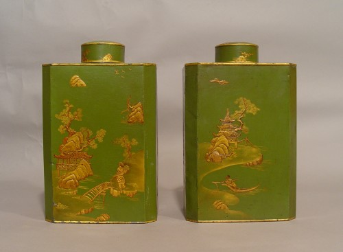 Decorative Objects  - Pair of tea-caddies end of 18th - beginning of 19th century