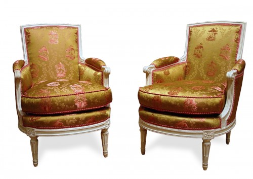 Pair of bergeres stamped G.Jacob - French Antiques Bergere Chair Anticstore
