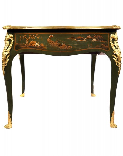 bureau plat attributed to Bernel - Furniture Style Napoléon III