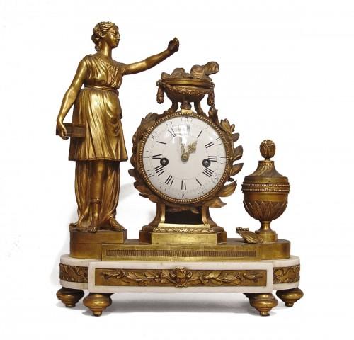 """Pendule """"la vertu athénienne"""" époque Louis XVI"""
