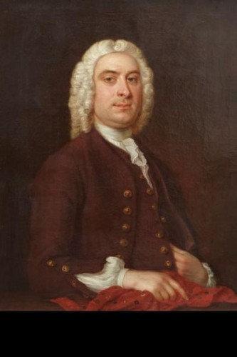 Portrait d'un élégant - English School circa 1770