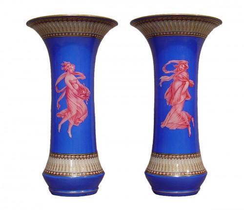 """Pair of """"vases cornet"""" néo-classique period"""