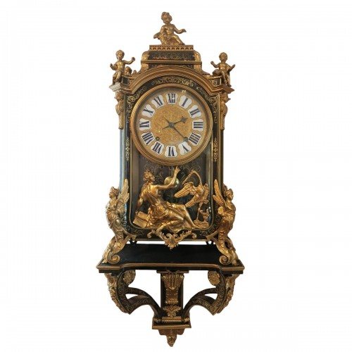 "Exceptional ""harpies clock"" attributed to André-Charles Boulle"