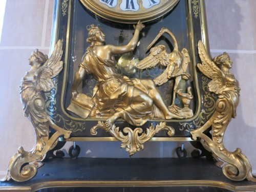"""Exceptional """"harpies clock"""" attributed to André-Charles Boulle - Clocks Style Louis XIV"""