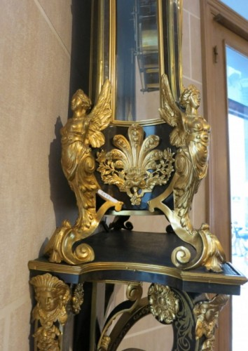 """17th century - Exceptional """"harpies clock"""" attributed to André-Charles Boulle"""