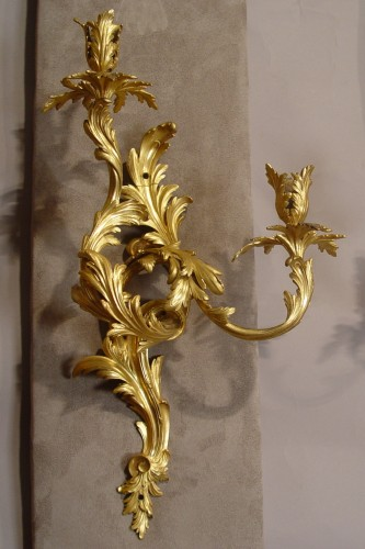 Pair of louis XV sconces - Lighting Style Louis XV