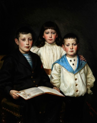 The beautiful family, dated 1896 - Wilhelm ROSENSTAND (1838-1915)